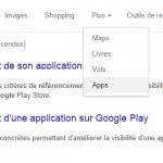 L'onglet «App» fait son apparition sur Google