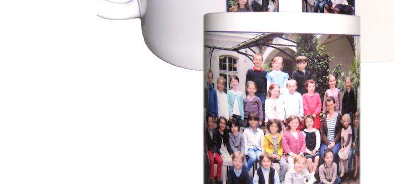 Des mugs personnalisés avec des photos de classe