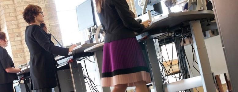 Travailler en marchant, walking desk