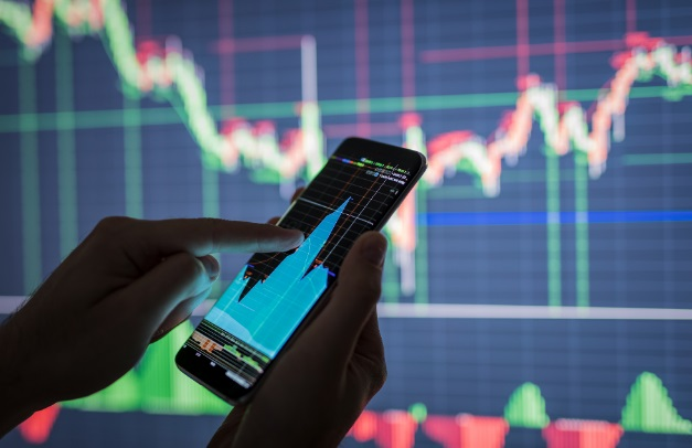 Smartphone graphique trading